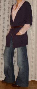 Débardeur Chattawak, chemise Naf-Naf, ceinture Gap, chaussures Minelli